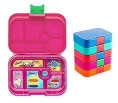 Yumbox Lunchbox mit 6 Fächern, auslaufsicher und untereinander dichte Fächer (Rosa Pink)