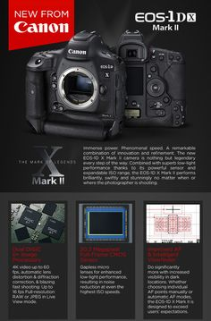 """Wild Card"" - Tech News - Canon recently just announced the new Canon EOS Mark II, which will now be it's top-of-the-line flagship camera. Out of many photographers price range, but will pave the way of what new tech will trickle down into the cheape Photography Classes, Photography Camera, Photography Equipment, Video Photography, Camera Hacks, Camera Gear, Film Camera, Cheap Cameras, Canon Cameras"