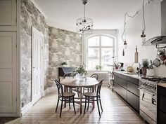 Gravity Home — (via Spacious Studio Apartment With Dark Walls In. Sweet Home, Interior Styling, Interior Design, Bright Rooms, Kitchen Models, Dark Walls, Blue Walls, White Walls, Cuisines Design