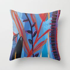 Drops III Throw Pillow by Milanesa - $20.00