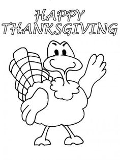 Free Thanksgiving Coloring Pages for Kids | Thanksgiving, Turkey ...