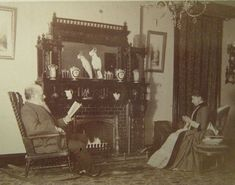 """""""By the fire 1890's"""""""