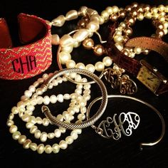Monograms and Pearls