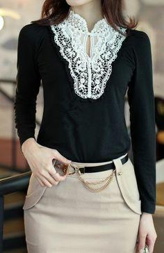 Work Style - faux Pearl design, Top.  dresslily.com