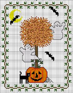 I got out all of my Fall/Halloween decorations the other day and when I was done, something was missing. Or I guess looked a little 'off'.I usually have a cute little 'every day' wall hanging ... DMC Halloween Topiary