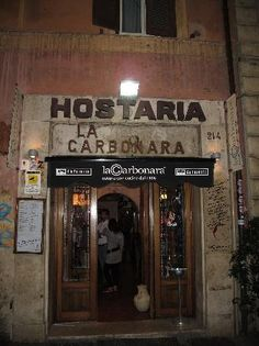 If you're in Rome, you need to go to this restaurant: amazing place and amazing food: LA CARBONARA