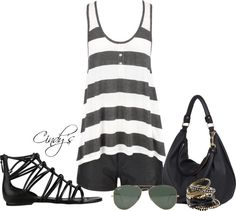 """""""Beach Party Tank in Grey"""" by cindycook10 on Polyvore"""