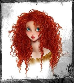 Merida by ~DanaisH Red Ginger Curly Hair                                                                                                                                                                                 More
