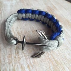 6 NFL style paracord bracelet with anchor clasp by Upyouranchor