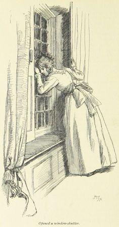 Jane Austen Sense and Sensibility - Opened a window-shutter