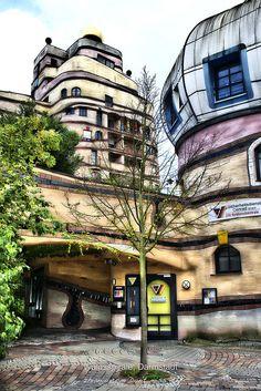 Darmstadt, Germany. Design by Architect Friedensreich Hundertwasser.