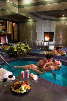 Enjoy a romantic weekend getaway in the Poconos with spacious luxury suites fitted with log burning fireplaces, whirlpool tubs & more at Cove Haven Resorts. Dream Home Design, My Dream Home, House Design, Luxury Life, Luxury Living, Spa Rooms, Romantic Getaways, Cool Pools, House Goals