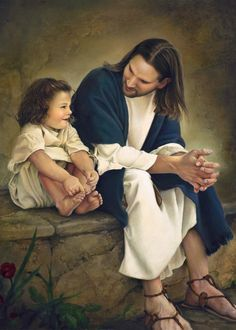 I love this representation of what Jesus may have been like having a conversation with a child.