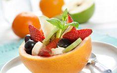 фрукты, ягоды, фруктовый салат