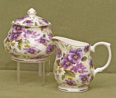 Cream and Sugar 103434: Pansy Chintz Fine Bone China Sugar And Creamer Set, Covered Sugar Bowl -> BUY IT NOW ONLY: $52.49 on eBay!
