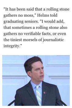 Ed Helms on Rolling Stone magazine at UVA 2015 Valediction #wahoowa