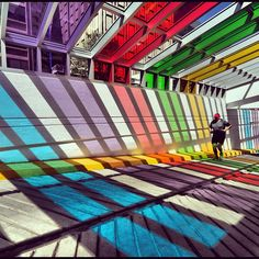This is in Edmonton, right by my work?  How come I didn't know about it? #rainbow #colours #yeg