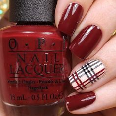 Pretty French Nails Nagel Winter and Christmas Nails Art Designs Ideas - Ostern Backen Christmas Gel Nails, Christmas Nail Art Designs, Holiday Nails, Plaid Nail Designs, Christmas Colors, Christmas Holiday, Plaid Nail Art, Plaid Nails, Stylish Nails