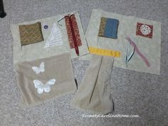 These Fidget Quilt Patterns for Alzheimer's Patients show you how to make small quilting patterns that can keep hands busy, something that is often comforting for patients who are experiencing memory loss or are feeling agitated.