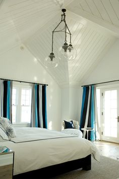 Beach house bedroom.