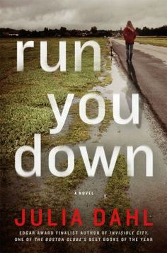 """Run You Down by Julia Dahl. """"New York City tabloid reporter Rebekah Roberts knows almost nothing about the mother who abandoned her as an infant. Aviva Kagan was just a teenager when she left her Hasidic Jewish life in Brooklyn for a fling with a college boy from Florida - and then disappeared."""" #mystery #disappearances"""