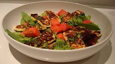 Haloumi, Mint and Watermelon Salad