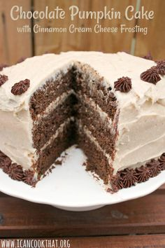 Chocolate Pumpkin Cake with Cinnamon Cream Cheese Frosting Recipe | I Can Cook That