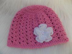 Crochet Baby HatBaby Girl HatNewborn BeanieBaby by StephanDesign Baby Girl Crochet, Crochet Baby Hats, Baby Girl Beanies, Unique Crochet, Flower Hats, Girl With Hat, Hats For Women, Crochet Patterns, Baby Newborn