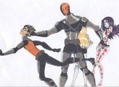 Robin, Slade, Terra and Raven