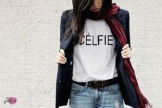 white #celfie #tee