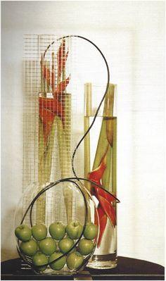 JUNE ASSIGNMENT: ORDINARY OBJECTS USED IN AN UNUSUAL, CREATIVE WAY – CAGC Design Group Flower Arrangement Designs, Floral Arrangements, Transparent Design, Arte Floral, Flower Show, Ikebana, Plant Hanger, Bonsai, Blossoms
