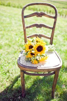 sunflower wedding - brides of adelaide magazine - bouquet - bridal