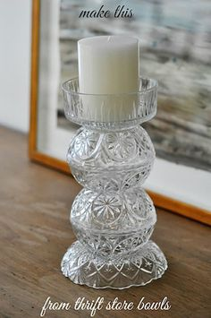 Have you ever thought of taking some of your pretty bowls you found at the Thrift Shop and making them into Gorgeous Candleholders? Well I think you are going to think about it once you see these Gorgeous Candlesticks over at Life Over Easy. Enjoy . . As always here at The Cottage Market we …