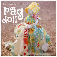 restlessrisa: Rag Doll (No sewing required!) cute girls party idea.