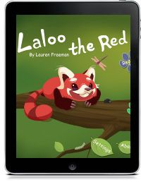 Laloo the Red  is the story of a lost red panda trying to find his way home. His adventures include running through a Bollywood movie set! One of Kirkus Reviews Best Apps of 2012.