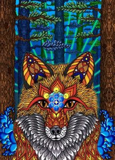 24 x poster. What's your spirit animal? The electric fox poster is a psychedelic piece of wall art that will lead you there. Whats Your Spirit Animal, Carnival Posters, Fox Painting, Kunst Poster, Electric Forest, Fox Print, Visionary Art, Art Abstrait, Canvas Prints