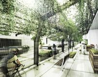 Ecological Relationalism [Urban Design Proposal] by Daniel Nelson, via Behance Architecture Images, Landscape Architecture, Urban Landscape, Landscape Design, Creative Arts Academy, Ecology Design, Chicago Neighborhoods, Walking Street, Perspective Drawing
