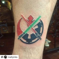 #Repost from @mattyinks ・・・ Got to add on to this Luke's lightsaber piece (not done by me) by adding Vaders saber and the logos. Thanks for coming in Chris! Appreciate you letting me do this one!