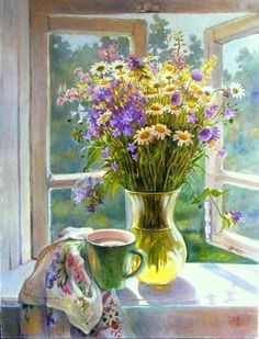"""Bouquet on the Window"" by Elena Shumakova"