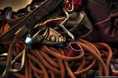 rock climbing gear    http://www.flickr.com/photos/senseless1707/2807750808/lightbox/