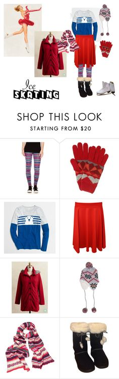 """""""Ice Skater"""" by chunky-chick ❤ liked on Polyvore featuring Arizona, John Lewis, J.Crew, WearAll, Billabong, UGG Australia, women's clothing, women, female and woman"""