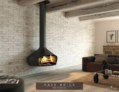 Brick effect wall cladding. Brick Cladding, Wall Cladding, Brickwork, Brick Tiles, Brick Wall, Fireplace Brick, Tiles Direct, Tile Showroom, Thin Brick