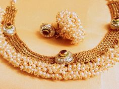 Pearl n Gold necklace