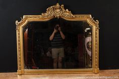 Photo of Victorian Gilt Mantle Mirror Glass Mirrors