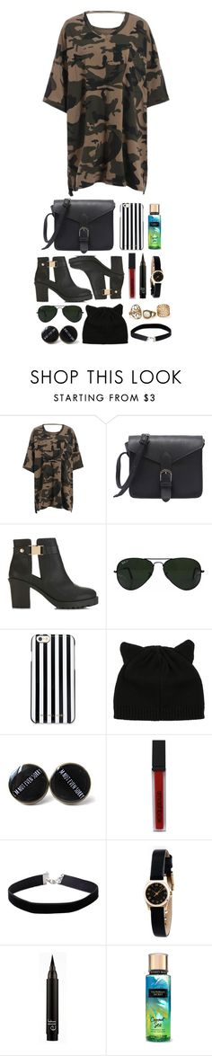 """""""Summer Camouflage"""" by beckythehobbit on Polyvore featuring Miss Selfridge, Ray-Ban, MICHAEL Michael Kors, Smashbox and Marc by Marc Jacobs"""