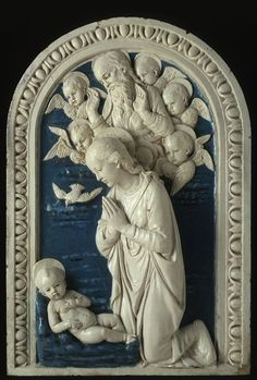 Andrea della Robbia (Workshop of)  Italian, 1435-1525  Adoration of the Christ Child, c. 1525