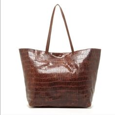 """Joie Sunday tote The Sunday tote is a must have carry-all. The everyday tote gets a chic update in embossed croc with shoulder straps, magnetic snap closure and inner zip pocket. Unlined. 13"""" high 12"""" long 8"""" deep 100% Leather NO TRADES DUSTBAG INCLUDED! Joie Bags Totes"""