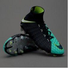 reputable site 7aa54 898f5 Botas De Futbol Nike Hypervenom Phantom III DF FG Azul Aqua Blanco Volt Por  Internet