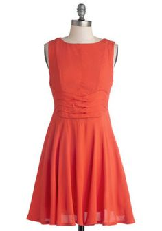 Keeping with Coral Dress, #ModCloth