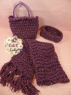Winter Scarf Set  0615 by TheCuteCLady on Etsy
